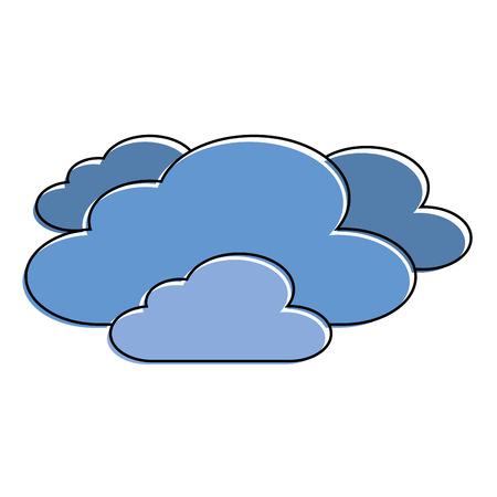 구름 날씨 하늘 장면 자연 벡터 일러스트 레이션 일러스트