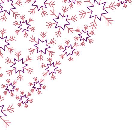 모서리에 눈송이 디자인 겨울 벡터 일러스트 레이션