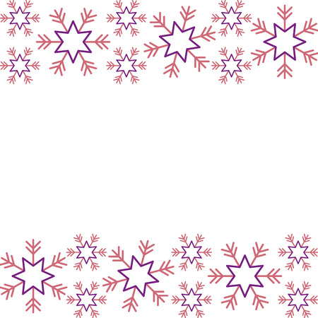 christmas border snowflake winter design background vector illustration