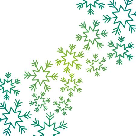 크리스마스 눈 찌질 떨어지는 카드 장식 벡터 일러스트 레이션