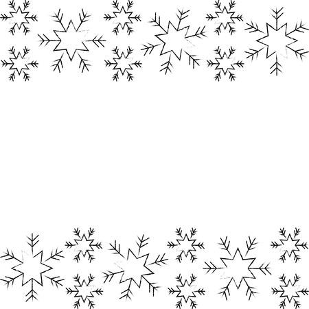 Kerstmis grens sneeuwvlok winter ontwerp achtergrond vectorillustratie