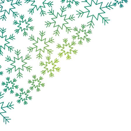 コーナーペーパーデザイン冬ベクトルイラストの雪片