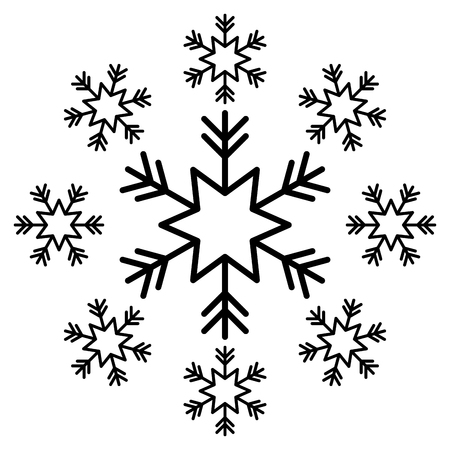 snowflake snow icon christmas and winter theme decoration vector illustration Иллюстрация