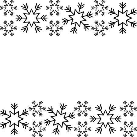 クリスマスボーダースノーフレーク冬のデザイン背景ベクトルイラスト