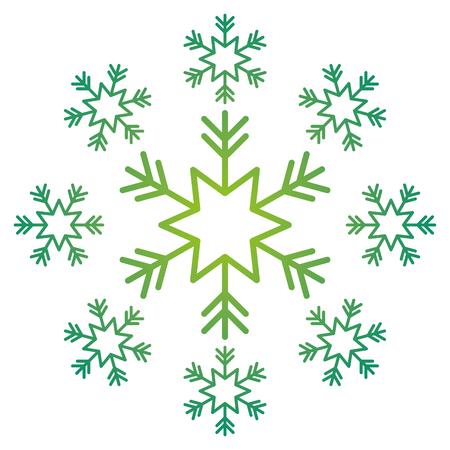 Schneeflocke Schnee Icon Weihnachten und Winter Thema Dekoration Vektor-Illustration Standard-Bild - 90690565