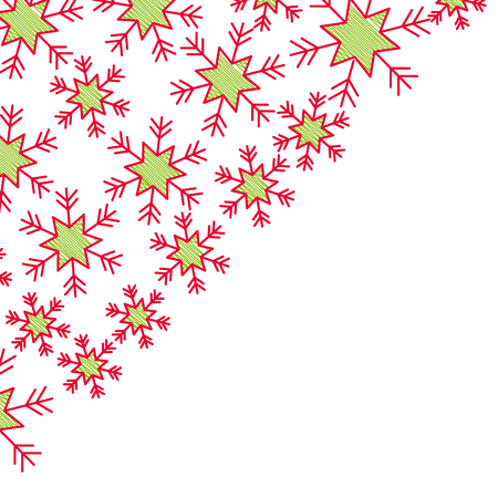 snowflakes in the corner paper design winter vector illustration