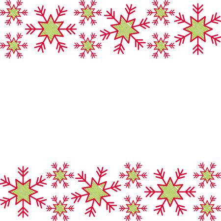 christmas border snowflake winter design background vector illustration