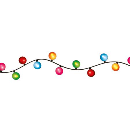 ampoule ronde noël lumière décoration célébration vector illustration