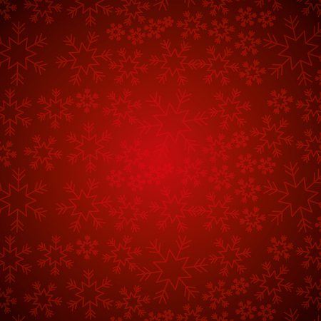 red snowflake winter decoration seamless christmas vector illustration