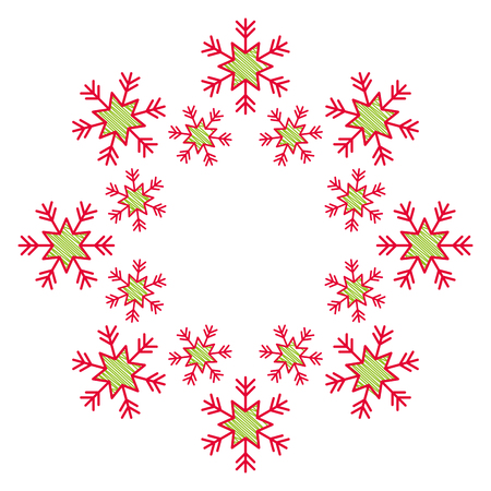 christmas snowflake season motif design vector illustration