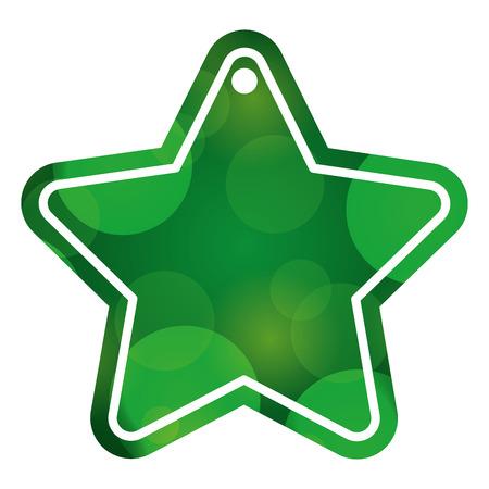christmas tag price shaped star blur glitter decoration vector illustration Illustration
