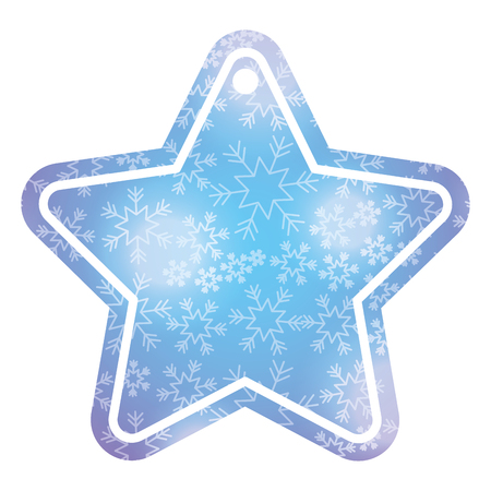 christmas tag price shaped star glitter decoration vector illustration