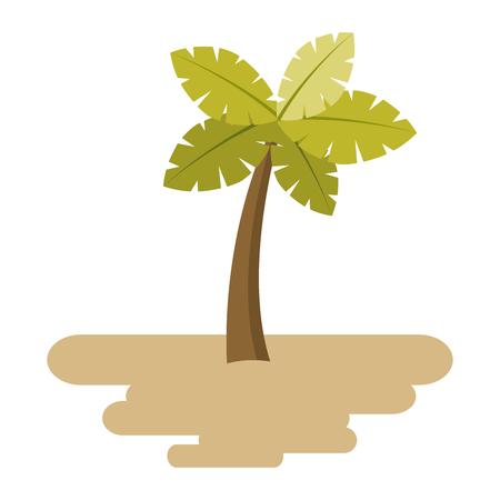 砂の島植物植物ベクター イラストを熱帯のヤシの木