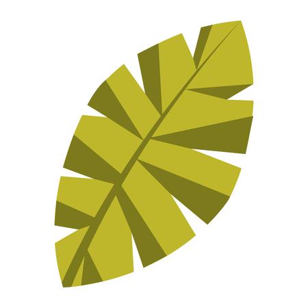 blad palm tree gebladerte natuurlijke afbeelding vector illustratie Stock Illustratie