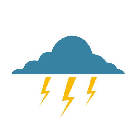 cloud lightning bolt storm natural climate vector illustration