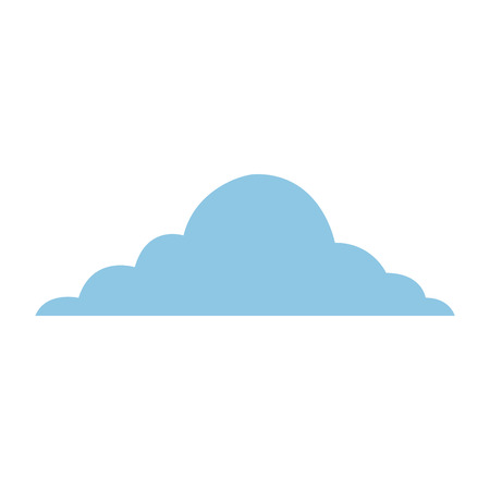 blue cloud sky weather cumulus view scene vector illustration