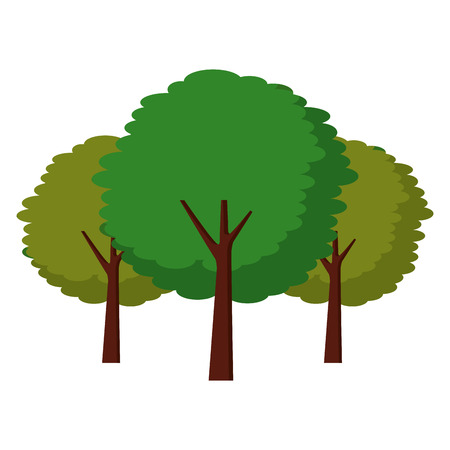 緑の3本の木植物植物植物自然ベクトルイラスト