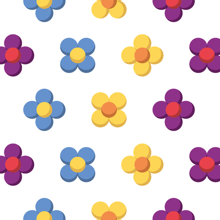 flower natural floral decoration seamless pattern vector illustration