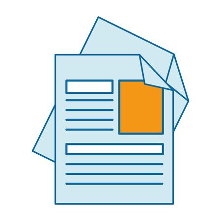 Curriculum vitae geïsoleerde pictogram vector illustratie ontwerp Stockfoto - 90791401
