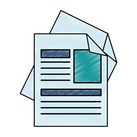 Curriculum vitae geïsoleerde pictogram vector illustratie ontwerp Stockfoto - 90791987