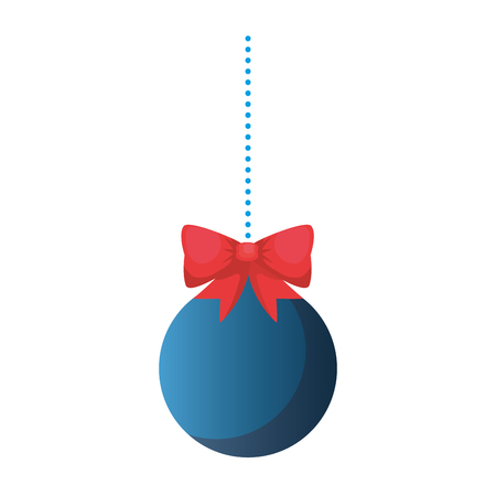 christmas ball hanging icon vector illustration design