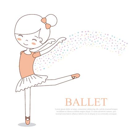 ballet little girl dancing with stars decoration vector illustration Reklamní fotografie - 90791942