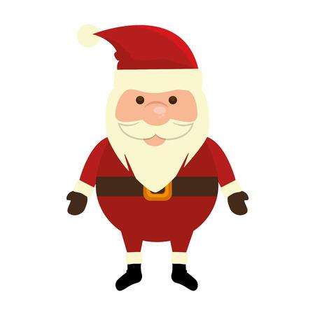 cute santa claus kawaii character vector illustration design