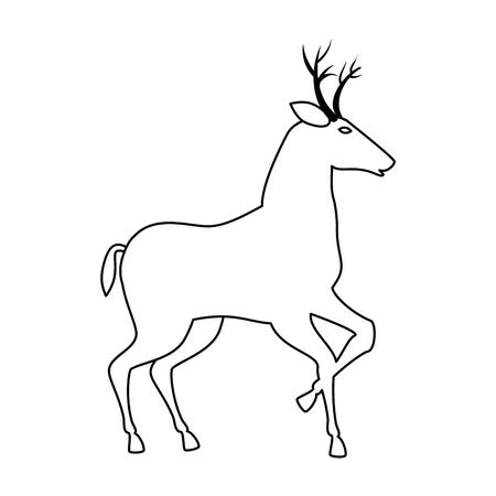 reindeer animal isolated icon vector illustration design Illustration