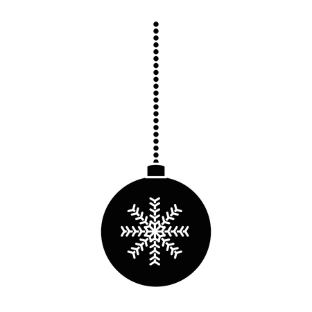 christmas ball hanging icon vector illustration design Stock Vector - 90791251