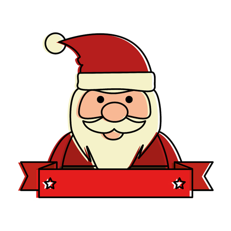cute santa claus kawaii character vector illustration design