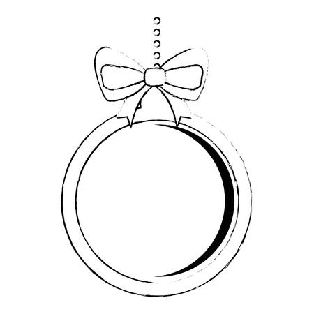christmas ball hanging icon vector illustration design Stock Vector - 90791744