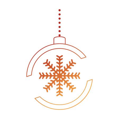 christmas ball hanging icon vector illustration design Stock Vector - 90791654