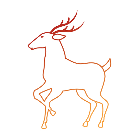 reindeer animal isolated icon vector illustration design Illustration