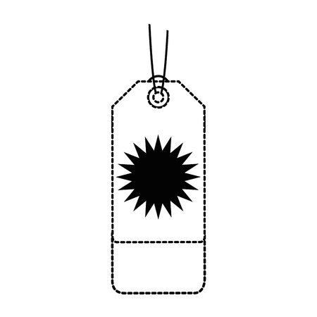 winkelen tag geïsoleerd pictogram vector illustratie ontwerp Stock Illustratie