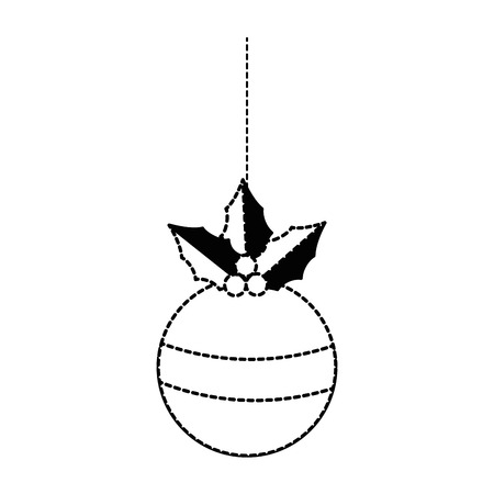 christmas ball hanging icon vector illustration design Stock Vector - 90791608