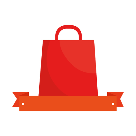 shopping bag with ribbon vector illustration design Çizim