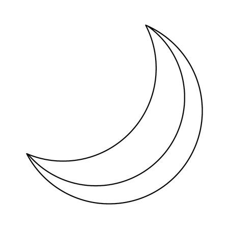 Half Moon Night Flare natürliche Bild Vektor-Illustration Standard-Bild - 90800732