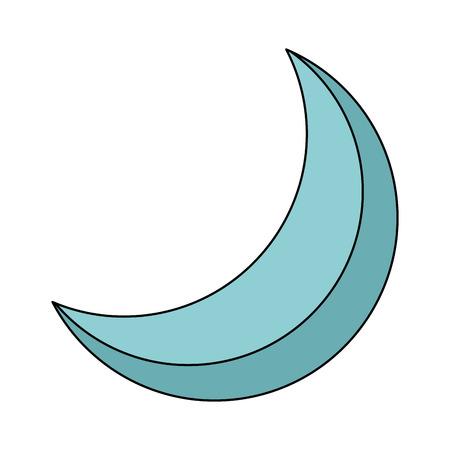 halve maan nacht hemelse natuurlijke afbeelding vector illustratie Stock Illustratie