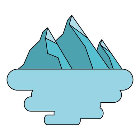 peak mountain snow landscape land scene vector illustration Illustration