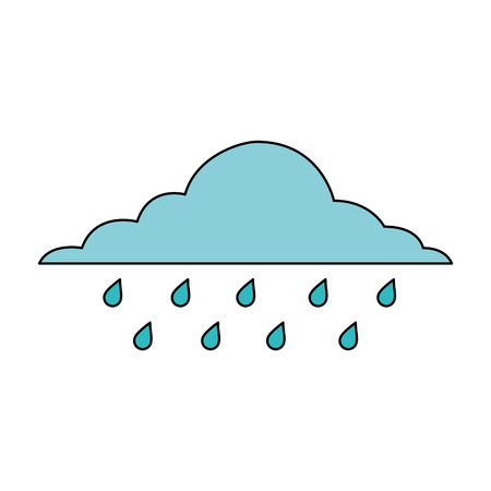 cloud rainy sky forecast storm isolated icon vector illustration