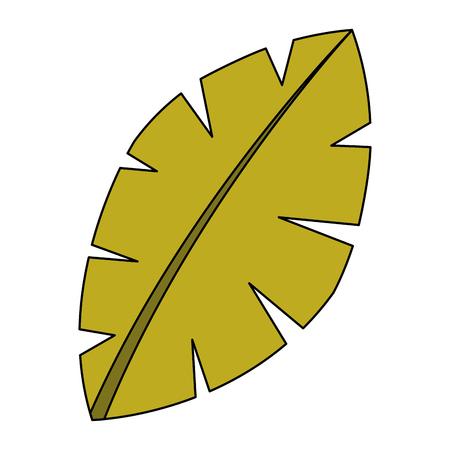 blad palmboom gebladerte natuurlijke afbeelding vectorillustratie