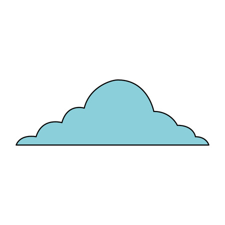 cloud sky weather cumulus view scene vector illustration Çizim