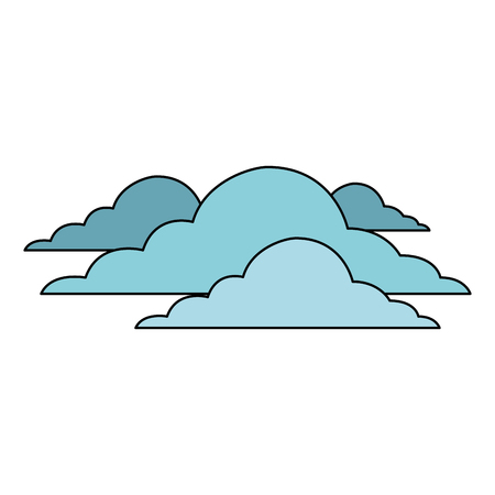 雲空気候曇りデイシーンベクトルイラスト