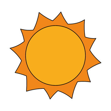 sun hot weather day sky natural vector illustration