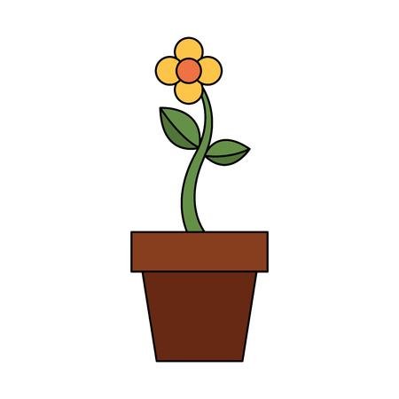 Illustration vectorielle de fleur en pot plante naturelle décoration Banque d'images - 90800790