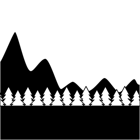 natural mountains with tree pines forest landscape vector illustration 版權商用圖片 - 90800816