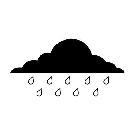 cloud rainy sky forecast storm isolated icon vector illustration Фото со стока - 90800827