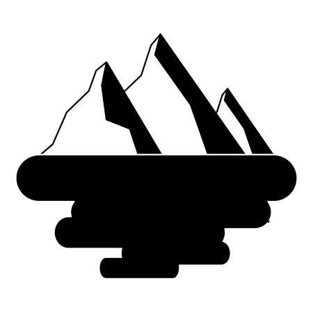 peak mountain snow landscape land scene vector illustration Illusztráció