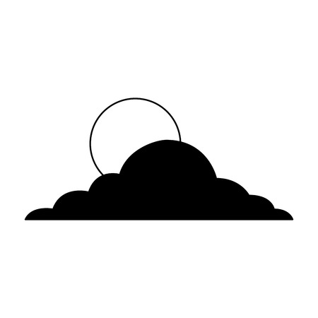 sun cloud day sky natural climate vector illustration