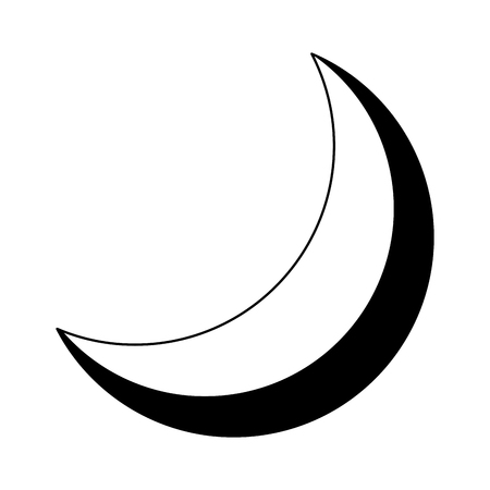 half moon night celestial natural image vector illustration Иллюстрация
